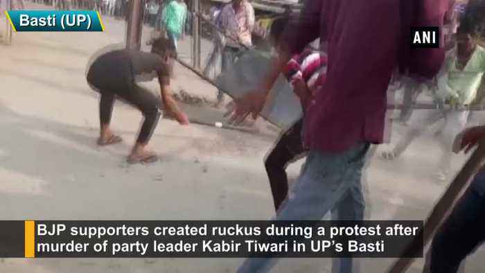 BJP supporters create ruckus over party leaders murder in UP Basti