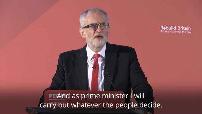Jeremy Corbyn: Labour trusts the people to decide Brexit in second referendum