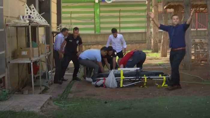 Turkey: Civilians rushed to hospital as bombing rains down