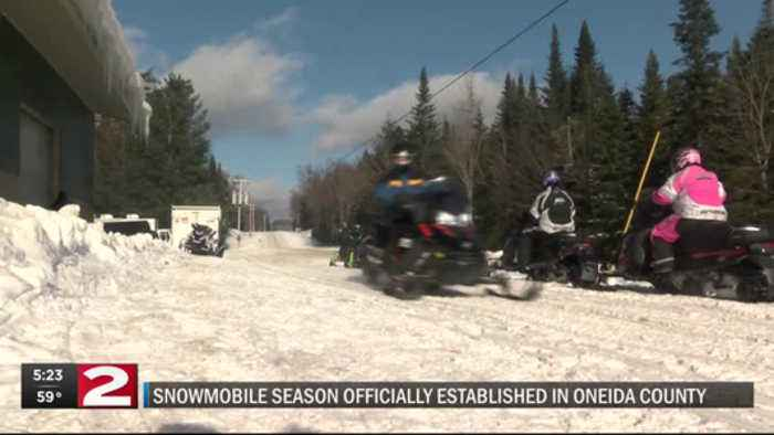 Oneida County establishes snowmobile season