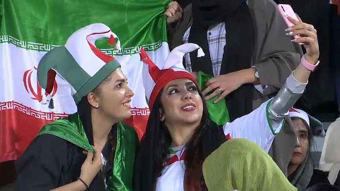 Watch: Iranian women attend first football match in 40 years