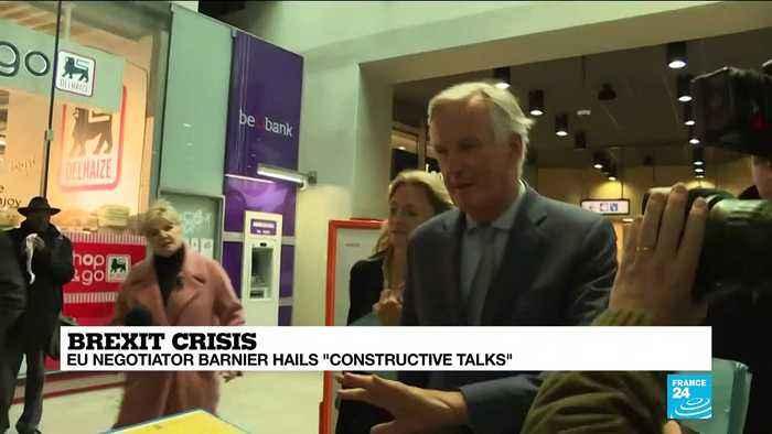 EU Brexit negotiator Michel Barnier hails 'constructive talks'