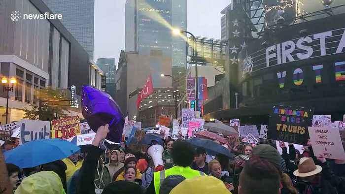 Anti-Trump rally in Minneapolis