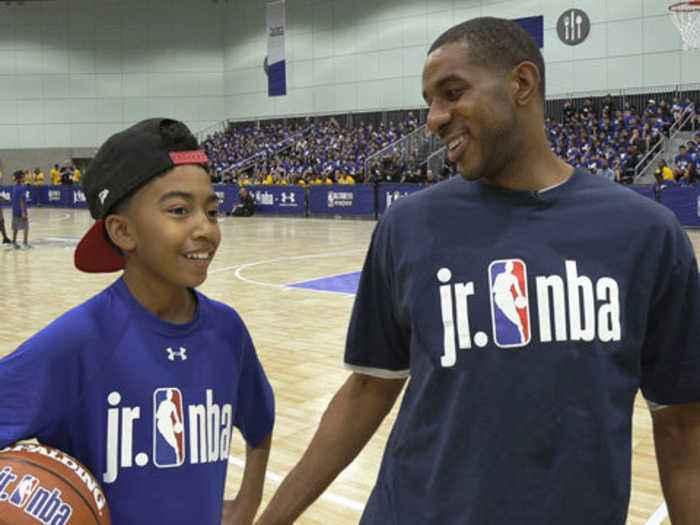 LaMarcus Aldridge & Miles Brown Show Their Skills at Jr. NBA Event