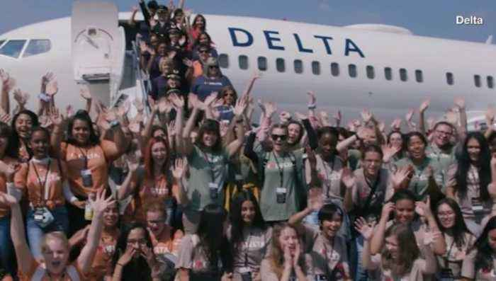 120 Girls Visit NASA Thanks to Delta