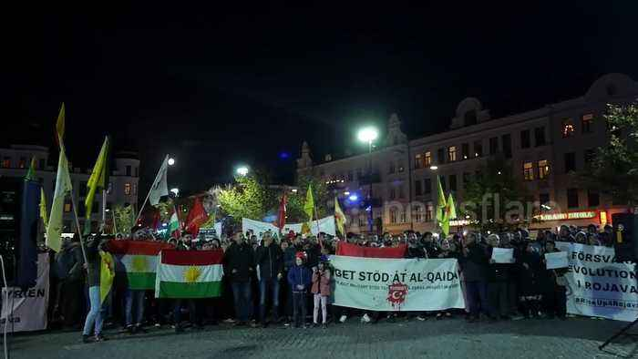 Hundreds protest in Malmo against Turkey military offensive in Syria