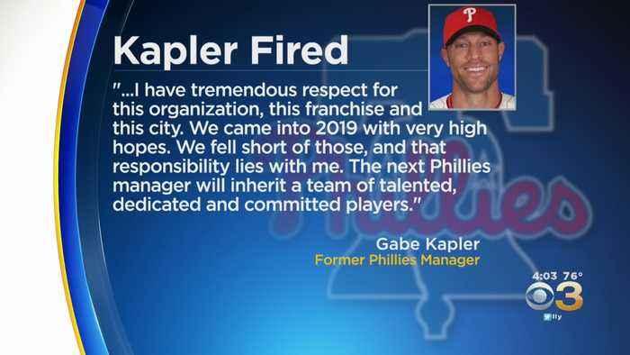 Phillies Fire Manager Gabe Kapler After 2 Seasons