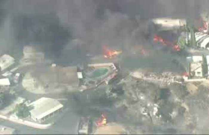 Wildfires erupt in Southern California