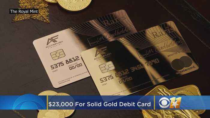 Solid Gold Debit Card Costs $23,000