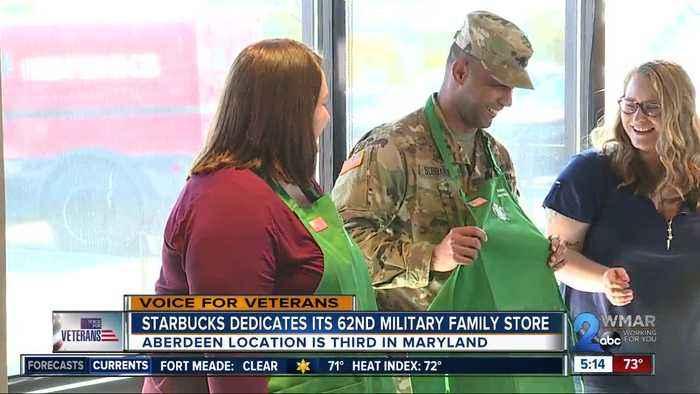Starbucks dedicates its 62nd military family store