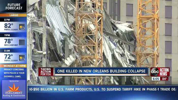 1 person killed, 18 hurt after crane collapses at Hard Rock Hotel construction site in New Orleans