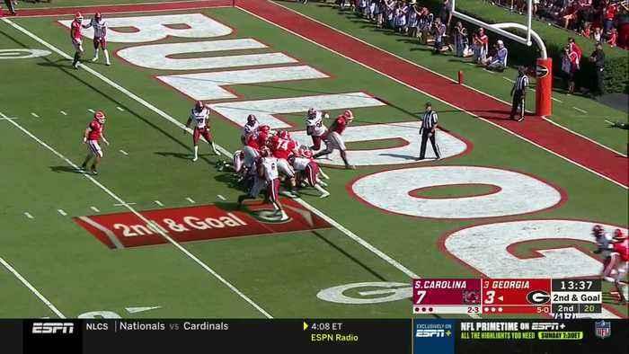 10/12/2019 South Carolina vs Georgia Football Highlights