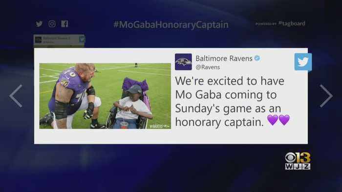 Ravens Superfan Mo Gaba Honorary Captain For Game Vs. Bengals