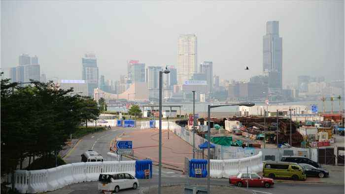 Hong Kong Protesters And Police Clash