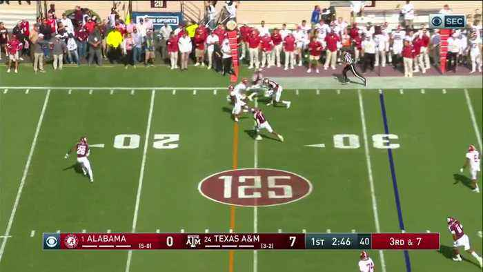 10/12/2019 Alabama vs Texas A&M Football Highlights