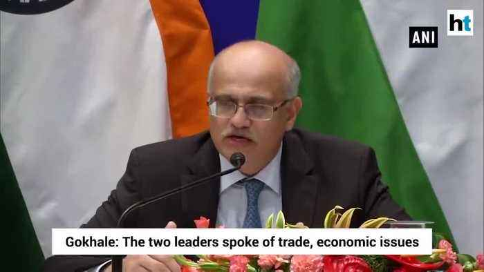 PM Modi Xi discussed trade threat from terrorism Foreign Secretary