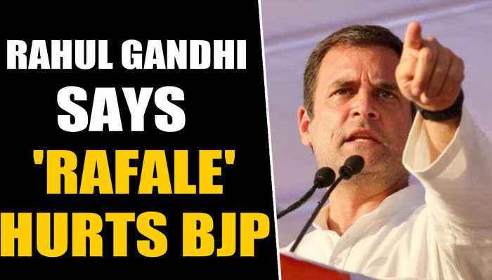 Rahul Gandhi says Rafale is still hurting BJP | OneIndia News