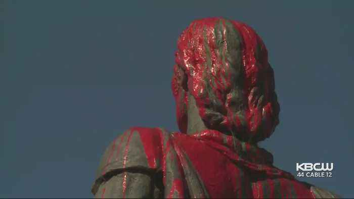 Columbus Statue By Coit Tower Defaced During Italian Heritage Parade