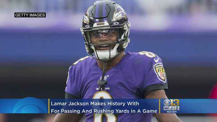 Baltimore Ravens Lamar Jackson Makes NFL History While Leading 23-17 Victory Over Bengals