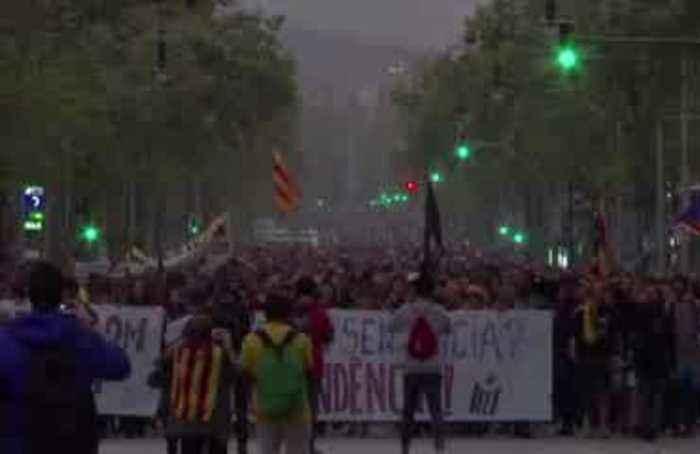 Protests erupt after Spain jails separatist leaders