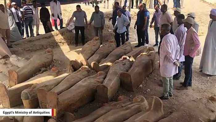 Ancient Sealed Coffins Discovered In Egypt