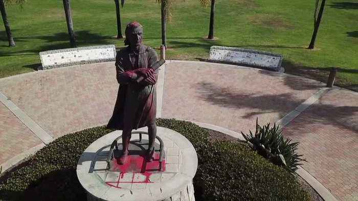 Christopher Columbus Statue Vandalized for Second Time in San Diego Park