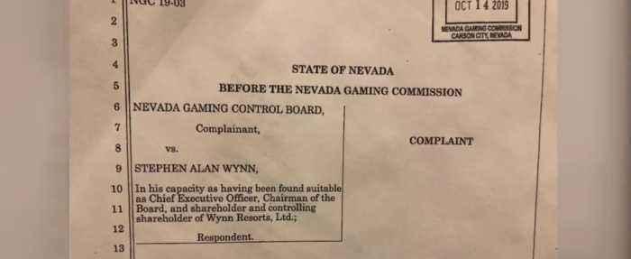 Nevada Gaming Control Board files complaint against Steve Wynn