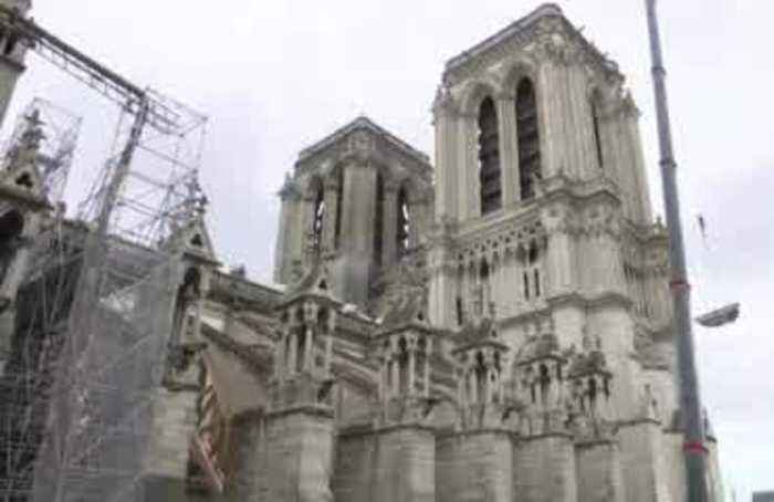 Slow progress for Notre-Dame, months after fire