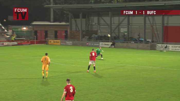 Basford United defender scores freak goal from his own half