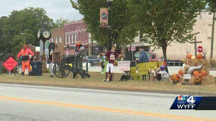 Dozens of scarecrows take over Upstate town