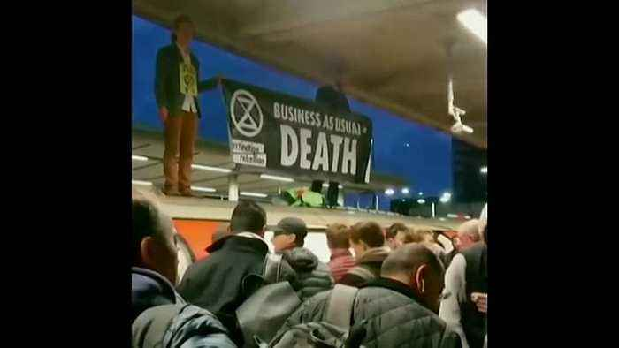 Climate protesters clash with commuters in London