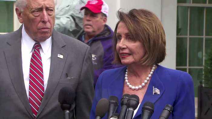House vote on Syria prompts Trump 'meltdown' -Pelosi