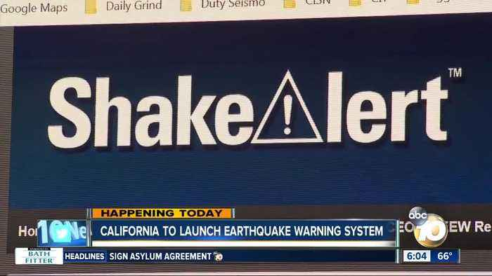 California launching early earthquake warning system