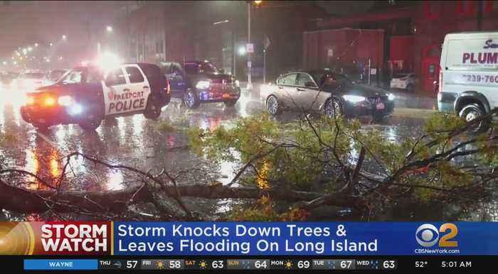 Long Island Slammed By Storm