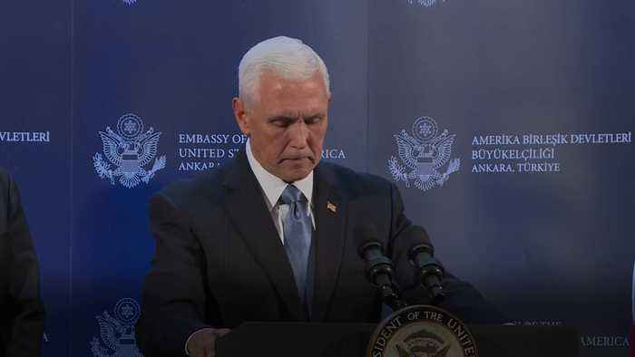 Turkey agrees to Syria ceasefire, says US vice president Pence