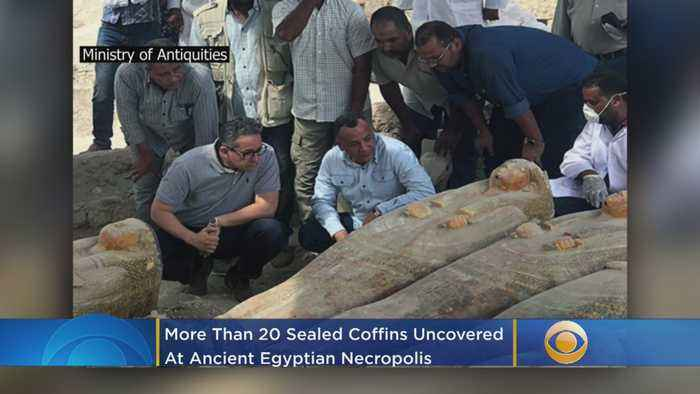 More Than 20 Sealed Coffins Uncovered At Ancient Egyptian Necropolis
