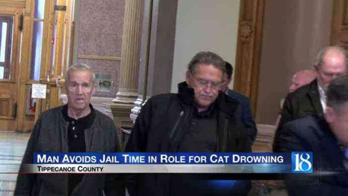 Tippecanoe County man avoids jail time for role in cat drowning caught on video