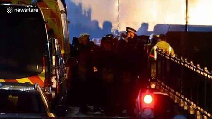 Police arrest Extinction Rebellion protester who climbed Big Ben dressed as Boris Johnson