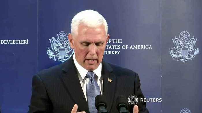Turkey, U.S. agree ceasefire in northeast Syria - Pence