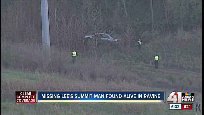 Missing Lee's Summit man found one week later inside crashed vehicle off I-470