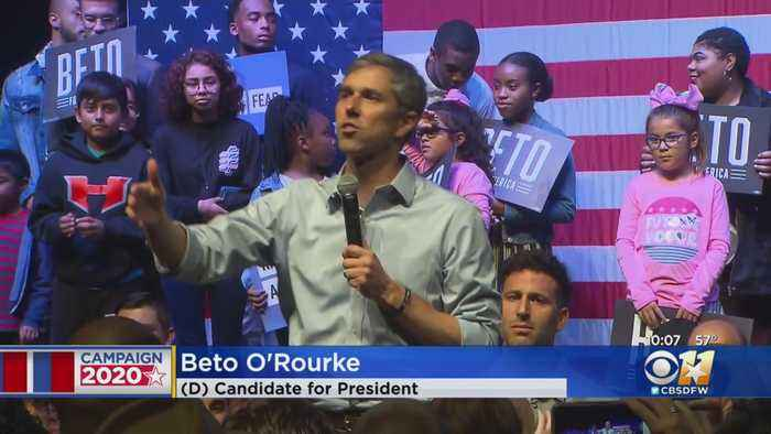 Beto O'Rourke Holds Rally Against Fear 10 Miles Away From Trump Rally