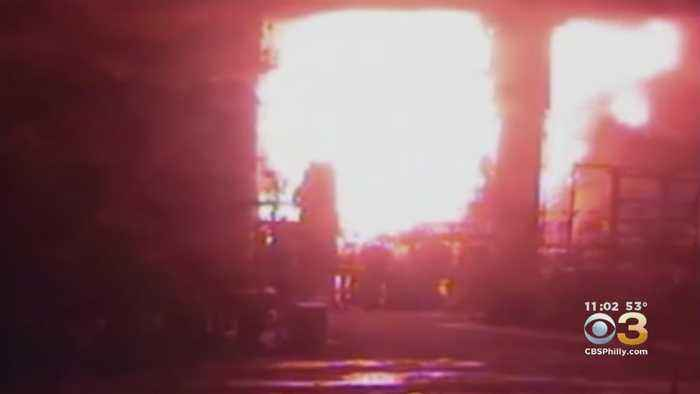 First Look Inside Philadelphia Refinery Moment Explosions Sparked Massive Fire