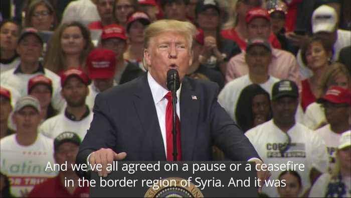 Trump speaks on Syria and Ukraine at Texas rally