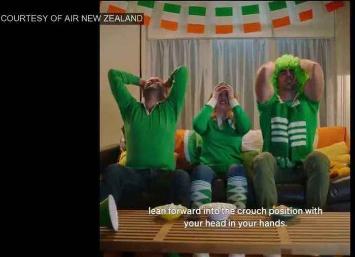 Air New Zealand pokes fun at Irish fans ahead of quarter-final