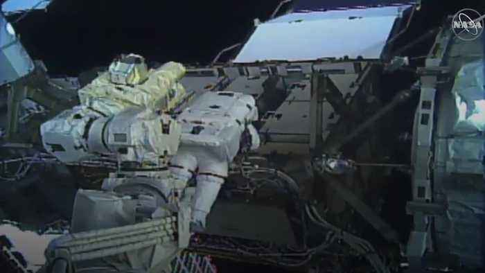 Nasa astronauts make history as they begin first all-female spacewalk