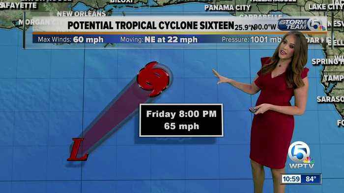 11 a.m. Friday advisory on Potential Tropical Cyclone 16