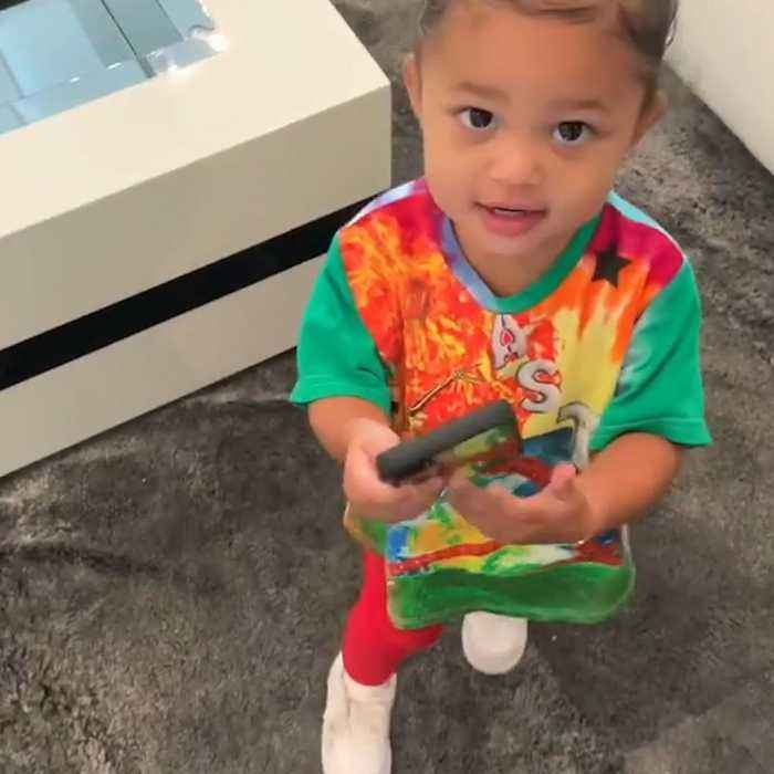 "Kylie Jenner's daughter had the most hilarious reaction when she heard a ""rise and shine"" remix"