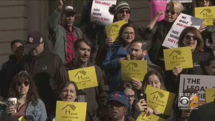 Advocates Rally At City Hall Demanding Housing For Homeless