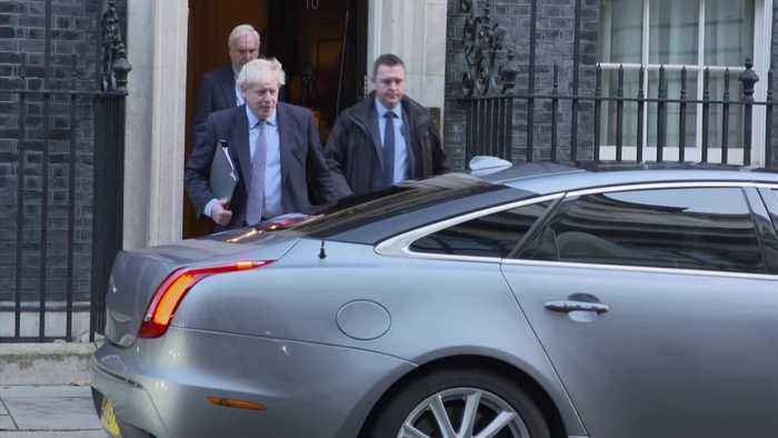 Brexit vote: Boris Johnson departs for Parliament