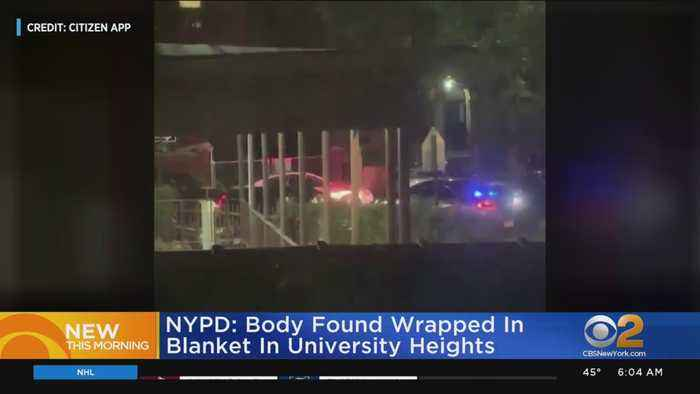 NYPD: Body Found Wrapped In Blanket In University Heights